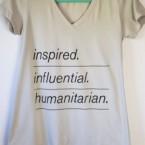 Inspired graphic t -shirt size Large